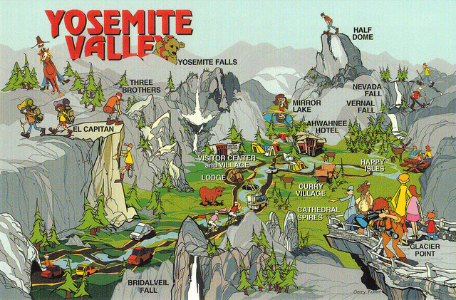 Yosemite National Park Blog Posts Chapters 19 – Yosemite Tourist Map